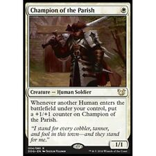 CHAMPION OF THE PARISH NM mtg Blessed vs Cursed White - Human Soldier Rare
