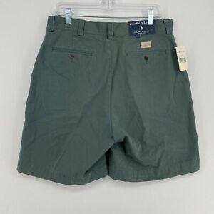 NEW VINTAGE Polo Ralph Lauren Philip Shorts Olive Green Twill Chino Size 34