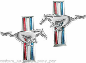 Ford Mustang Running Horse Fender Emblems LH & RH Pair 1967 1968 67 68 All Bodys