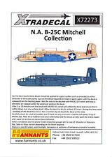 Xtra Decals 1/72 NORTH AMERICAN B-25C MITCHELL American WWII Medium Bomber