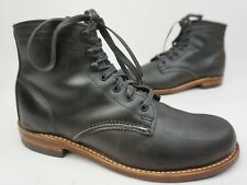 Wolverine 1000 Mile Grey Plain Toe Leather Boots Size 8 D $350+