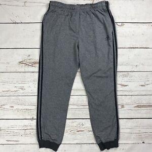 Adidas Essentials Trico Joggers Men's Sz XL Training Pants Gray/Black AY7425