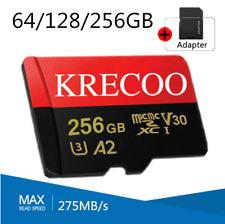 64GB 128GB 256GB Krecoo Ultra Micro SD Card Class 10 4K 275MB/s TF Memory Card