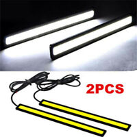 2-6x LED STRIP DRL DAYTIME RUNNING LIGHTS FOG COB CAR LAMP WHITE DAY DRIVING 12V