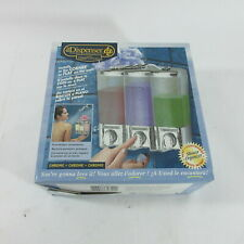 The Dispenser Clear Choice 3-Chamber Shower Organizer Shampoo Soap Lotion Chrome