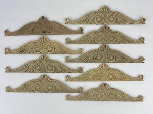 Vintage Architectural Salvage Decorative Trim Arches Wood Or Composite Lot Of 9
