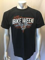 Bike Week 76th Annual Daytona Beach 2017 Men's Size L Black Graphic Tee T-Shirt