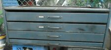 VINTAGE INDUSTRIAL 4 DRAWER STEEL STACKABLE CABINET STEAMPUNK APOTHECARY LARGE
