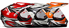 casque moto ATV SUPER MOTARD MOTO CROSS NEUF XS S M L XL rouge orange blanc