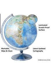 Physical World Globe 12 inch, Steel Arc and Base Free Shipping