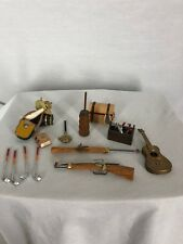 Doll House Accessories Guns Tools Chest Bed Water Golf Clubs Dictionary