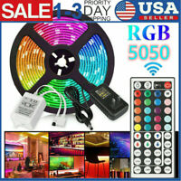 16FT Flexible Strip Light 5050 RGB LED SMD Remote Fairy Light Room TV Party Bar