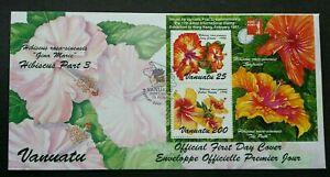 [SJ] Vanuatu Flowers 1996 Hibiscus Flower Plant (FDC) *Hong Kong Expo 1997