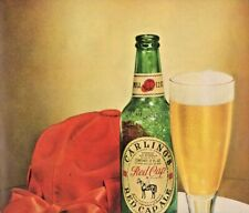 1948 Carling's Beer Vintage Print Ad Red Cap Ale
