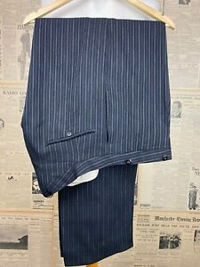 Vintage 1930's bespoke striped morning suit trousers size 40 long