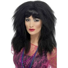 Année 1980 Marque déposée tissé Perruque - NOIR - Kate Bush Style