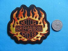 1 HD  MOTOR HARLEY DAVIDSON MC MOTORCYCLE BIKER RIDER FLAMES PATCH CREST