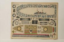Imagerie D'Epinal No 429 Cuirasse d'Escardre/Grandes Constructions paper model