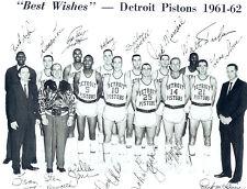 1961 1962 DETROIT PISTONS 8X10 TEAM PHOTO MICHIGAN NBA HOWELL FERRY BASKETBALL