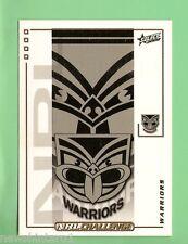 2002  NEW ZEALAND WARRIORS   RUGBY LEAGUE EMBLEM  & PLAYER LIST CARD