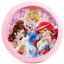 "Disney Princess Decor 10"" Wall Clock Kids Girls Ariel, Belle, Cinderella Pink"