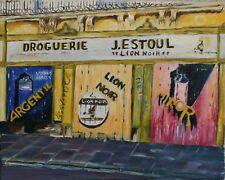 HUILE SUR TOILE, Paysage, naïf, arts modestes. T741