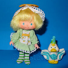 VINTAGE DE 1984 80 Kenner Strawberry Shortcake Mint Tulip Party Pleaser Muñeca + mascota