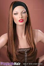 XXXLong Headband Hair Extensions Blonde Auburn Mix