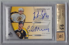 2005-06 SP Authentic Patrice Bergeron Glen Murray Sign of the Times Auto BGS 9.5