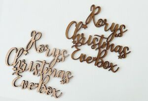 Christmas Eve Box Toppers Personalised Wooden - MDF Craft Plaque Xmas Decoration