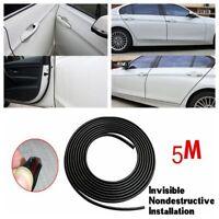 ESUPPORT 16ft 5M U Shape Car Door Moulding Rubber Scratch Protector Strip Edge Guard Trim Seal Black