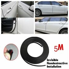 Car Door Moulding Rubber Scratch Protector Strip Edge Guard Trim Black 5M