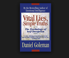 Vital Lies, Simple Truths by Daniel Goleman FREE SHIPPING paperback book  and