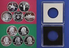 5 Silver 1999 S Proof State Quarters With 5 2x2 Cases DCAM Flat Rate Shipping