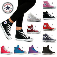 Converse All Star HI Top Canvas Pumps High Trainers Shoes Mens Womens Girls Boys
