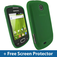 Green TPU Gel Case for Samsung Galaxy Mini S5570 Android Skin Cover Holder