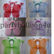 1 Farfalla Fata Ali Bacchetta Magica Fascia Costume Da Addio Al Nubilato Festa