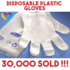 100pcs Plastic Catering GLOVES PREMIUM POLYTHENE Hairdressers Butchers