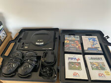 Sega Mega Drive Black Console With Protective Box 2 Controllers And 4 Games