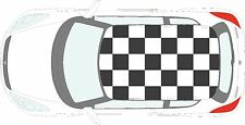 Car Checkered Flag - 24 individual square vinyl stickers decals for roof of car