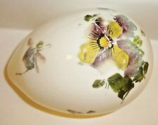 Victorian Hand Painted Milk Glass Easter Egg Large