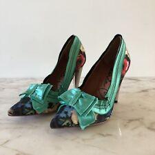 Lanvin Pour H&M Flowers Green Pumps - 38 (EU) / 7-7.5 (US)