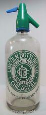 Old Lincoln Bottling Co Chicago Ill Seltzer Bottle 'This Bottle is Never Sold'