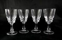 4 Lovely French Vintage Lead Crystal shot liqueur glasses