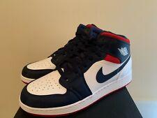 Nike Air Jordan Retro 1 MID SE USA WHITE Varsity Red Midnight Navy