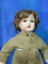 Antique 1900s German Mold Fulper US Bisque Boy Doll WWI Army Costume DH17
