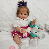 50CM Handmade Soft Touch Reborn Doll Girl Sweet Smile Baby Dolls Birthday Gift