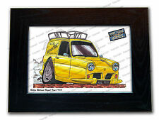 ONLY FOOLS AND HORSES Reliant TV Series Car Koolart Quality Glass Framed Picture