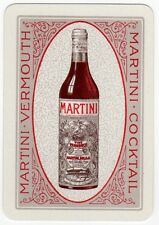 Playing Cards 1 Single Swap Card - Old Antique Wide MARTINI VERMOUTH Wine Bottle