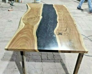 Epoxy Resin Live Edge Black River Dinning Table Top 35mm thickness (TOP ONLY)